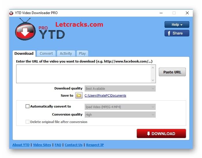 YTD Youtube Downloader Serial Key